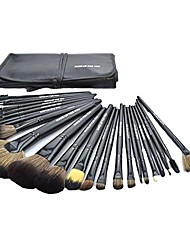 cheap -24 pieces professional cosmetic makeup brushes kit brushes&tools make up case_black