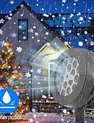 cheap -Porjector Light Led Stage Lights Led Snowflake Light White Snowstorm Projector Christmas Atmosphere Holiday Family Party Special Lamp