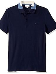 cheap -mens short sleeve stretch pima pique semi-fancy polo polo shirt, navy blue, xl