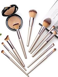 cheap -Set of 10 Champagne Gold Makeup Brushes Small Grapes Loose Powder Eye Shadow Brush