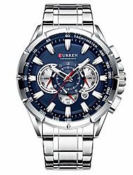 cheap -curren mens watches 3 dials chronograph luxury wrist watch for men with calendar watch