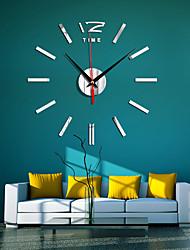 cheap -Modern Surface Wall Clock Home DIY Large 3D Mirror Sticker Art Clock Living Room Decor