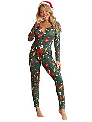 cheap -Women's Active Green Jumpsuit Abstract Print