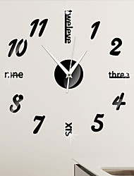 cheap -DIY Wall Clock 3D Mirror Surface Sticker Home Office Decor Clock Mirror Stickers Wall Clocks Home Decoration Clocks