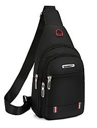 cheap -Men's Bags Nylon Sling Shoulder Bag Chest Bag Zipper Daily Outdoor MessengerBag Black Blue Brown
