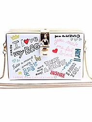 cheap -women personalized clutch mini pu leather crossbody purse evening bag chain strap shoulder bag white