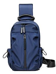 cheap -Men's Bags Oxford Cloth Polyester Sling Shoulder Bag Chest Bag Zipper Daily Outdoor 2021 MessengerBag Black Blue Dark Gray