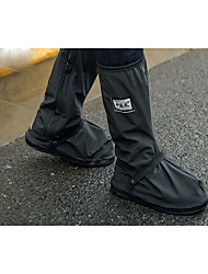 cheap -black waterproof rain boot shoe cover with reflector (1 pair) (black-xxl(13.4inch))