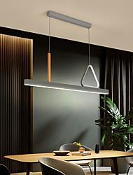 cheap -90 cm LED Pendant Light Nordic Minimalist Gray Geometric Island Light Chandelier Art Design Office Personalized Creativity Modern Simple Living Room Dining Room Lamps