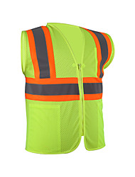 cheap -Reflective Vest Safety Vest Running Gear Breathable Durable Class 2 High Visibility Mesh Zipper Reflective Strip With Pockets Portable Lightweight Comfy Versatile for Running Cycling / Bike Jogging