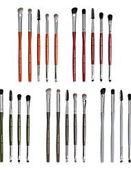 cheap -New Product 5 Hexagonal Eye Makeup Brush Set Beauty Tool Eye Shadow Brush Full Set of Multi-Function