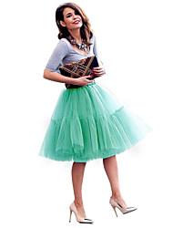 cheap -princess short evening prom skirt petticoat tutu skirt dark green one size