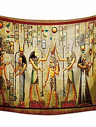 cheap -egyptian tapestry wall hanging egyptian ancient religion historical tapestry backdrop cloth egypt egyptian character for home dorm living room decor. multi 78x59inc