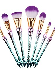 cheap -Professional Makeup Brushes 7pcs Full Coverage Synthetic Color Gradient Plastic for Blush Brush Foundation Brush Makeup Brush