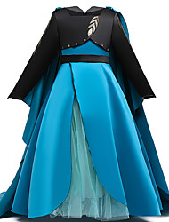 cheap -Princess Dress Party Costume Flower Girl Dress Girls' Movie Cosplay Princess Blue Dress Children's Day Masquerade Polyester