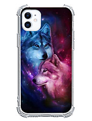cheap -Wolf Case For Apple iPhone 12 iPhone 11 iPhone 12 Pro Max Unique Design Protective Case Shockproof Back Cover TPU