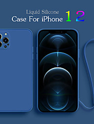 cheap -Luxury Liquid Silicone Case For iPhone 12 Mini Pro Max 11 Protector Case For iPhone XS MAX XR X 7 8 PLUS SE2 2020 Cover With Strap