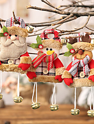 cheap -Christmas Decorations Plaid Cloth Hanging Bells Small Trees Cartoon Ornaments Children's Gifts