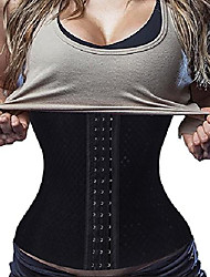 cheap -waist trainer corset weight loss sport fat burner body shaper long torso, black,x-small
