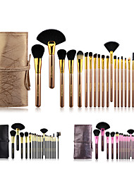 cheap -20 Pcs makeup brush set super soft animal hair brush complete set with bag