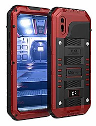 cheap -waterproof case compatible with iphone xr, [full body protective] cover built-in [shield screen protection] [shockproof] [military grade defender] [metal] [heavy duty ] armor rugged shell,red