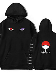 cheap -Inspired by Naruto Cosplay Akatsuki Uchiha Itachi Hoodie Polyester / Cotton Blend Print Printing Hoodie For Men's / Women's