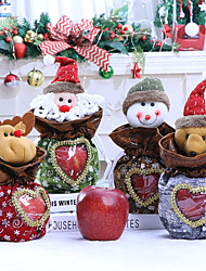 cheap -Christmas Toys Candy Bag Christmas Apple Bags Elk Bear Snowflake Gift Decoration Non-woven Fabrics 4 pcs Kid's Adults 16cm*26cm Christmas Party Favors Supplies