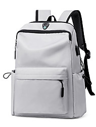 cheap -Large Capacity School Bag Women's Polyester Zipper Solid Color School Black / Blue / Light Grey