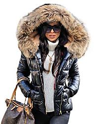 cheap -womens black down parka quilted jacket winter warm thicken lined coat outwear windbreaker waterproof anoraks …