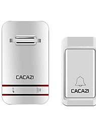 cheap -CACAZI Self Powered Wireless Doorbell Waterproof 120M Remote No Battery Required  Intelligent Home Ringbell 220V