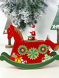 cheap -Painted Christmas Carousel Music Box Decoration
