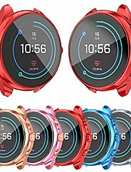 cheap -[5-pack]screen protector case compatible with fossil women's sport 41mm ftw6022 cover, all-around tpu plated protective frame scratch resistant bumper shell smartwatch accessories (5 colors, ftw6022)