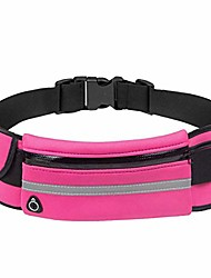 cheap -running belt for women men, fanny pack water resistant large capacity fitness belt adjustable elastic strap with headphone hole for running, gym, cycling outdoor activities (pink)