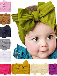 cheap -1pcs Toddler / Infant Girls' Basic Black / White / Red Solid Colored Pure Color / Bow Spandex / Cotton Hair Accessories White / Black / Purple One-Size