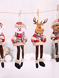 cheap -Christmas Decorations Scene Decoration Christmas Tree Pendant Pendant Doll Plaid Hanging Leg Pendant Old Man