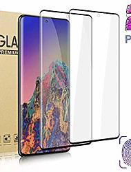 cheap -2 Pack Tempered Glass Screen Protector For Galaxy S21 Ultra S21+ S20 Plus 3D Full Coverage Designed For Fingerprint Unlock HD Film For Samsung Galaxy S20 Ultra S20 fe S10lite