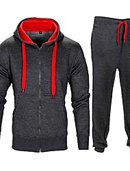 cheap -kids contrast cord fleece full zip up kids tracksuit hoodie gym suit jogging joggers