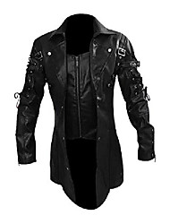 cheap -goth matrix trench coat gothic steampunk men's black steampunk gothic coats