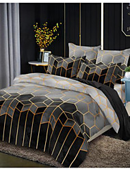 cheap -Diamond Check Print 3-Piece Duvet Cover Set Hotel Bedding Sets Comforter Cover with Soft Lightweight Microfiber(Include 1 Duvet Cover and 1or 2 Pillowcases)