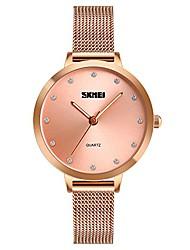cheap -rose gold quartz watches,  minimalist fashion women wrist watch simple crystal dial zinc alloy mesh bracelet wristwatch for ladies girls