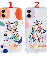 cheap -Case For Apple Scene Map iPhone 12 12 Pro 11 Pro Max Fine Hole Contrast Color Button Series Cartoon Pattern Thick TPU Material I Mobile Phone Case OS
