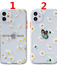 cheap -Case For Apple Scene Map iPhone 12 12 Pro 11 Pro Max Fine Hole Contrast Button Series Butterfly Chrysanthemum Pattern Thick TPU Material I Mobile Phone Case OS