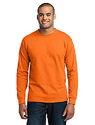 cheap -port & company tall long sleeve 50/50 cotton/poly t-shirt. pc55lst