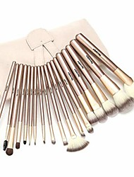 cheap -makeup brushes 18-piece professional powder blending contour concealers eye full face kabuki cosmetic make up brush with case travel pu bag, cruelty-free synthetic fiber bristles