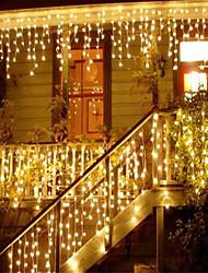 cheap -LED String Lights 6Mx3M 600LED 3Mx3M 300LED 4M 96LED Christmas Garland Light Droop LED Curtain Icicle String Lights Garden Mall Eaves Home Christmas Decorating Fairy Lights