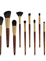 cheap -Log 10 Makeup Brush Set Beauty Tools Eye Brush Eye Shadow Brush Comfortable Soft Full Set