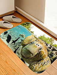 cheap -Turtle Black Fish Digital Printing Floor Mat Modern Bath Mats Nonwoven Memory Foam Novelty Bathroom