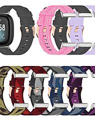cheap -1 Pcs Watch Band Nylon Band for Fitbit Versa 3 Strap Canvas Woven Bracelet Wristband Replacement for Fitbit Sense Bands Accessories Women Men