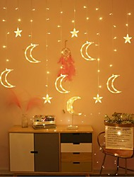 cheap -LED Curtain Fairy String Light Star Moon Lamp Warm White Stardust Garland Light for Wedding Chrismas Festival Party Decoration 220V