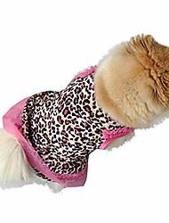cheap -dogs dress,cute leopard summer cotton puppy small dog cat pet dress apparel clothes lace dress design pet apparel & #40;xs, pink& #41;